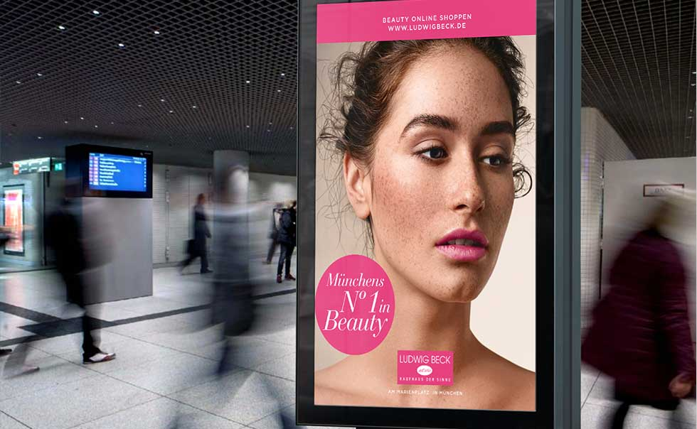 Ludwig Beck Beauty Citylight plakat